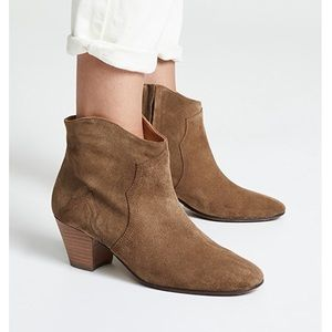 Isabel Marant Dicker Brown Suede Ankle Boot 37